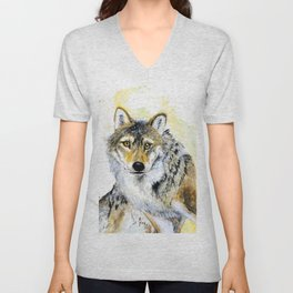 Totem Grey wolf Unisex V-Neck