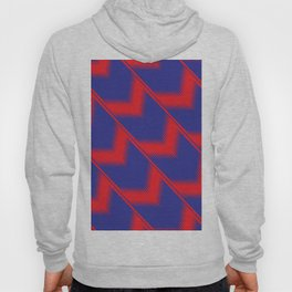 Red and blue diagonal pattern Hoody