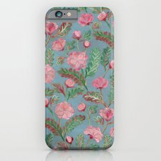 Soft Smudgy Pink and Green Floral Pattern iPhone 6 Slim Case
