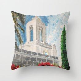 Newport Beach California LDS Temple Throw Pillow