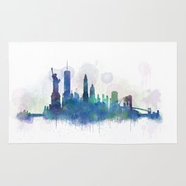 NY New York City Skyline Rug