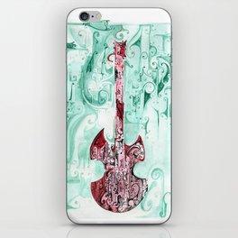 red guitar pt 2 iPhone Skin