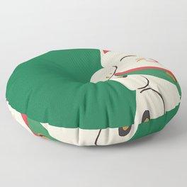 Green Lucky Cat Maneki Neko Floor Pillow