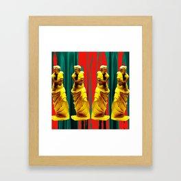 red green gold venus Framed Art Print
