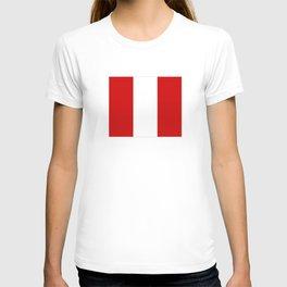 Flag of peru -Peruvian, Lima, latin america,america, quechua,aymara, andean, Arequipa,Piruw T-shirt