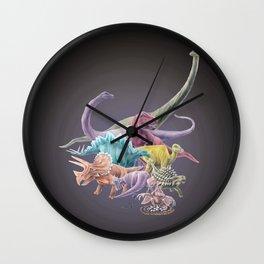 Rainbow Dinosaurs Wall Clock