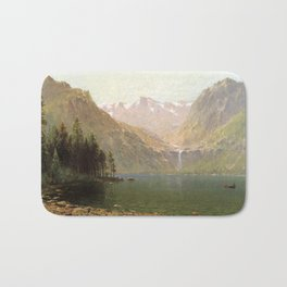 View Of Lake Tahoe Looking Across Emerald Bay 1874 By Thomas Hill | Reproduction Bath Mat