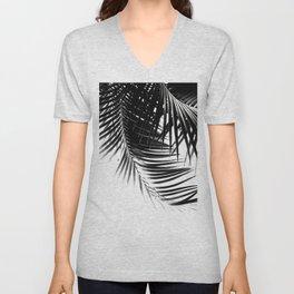 Palm Leaves Black & White Vibes #1 #tropical #decor #art #society6 Unisex V-Neck