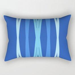 blue abstract lines  Rectangular Pillow