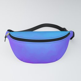 Blue and Purple Ombre - Swirly Fanny Pack