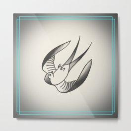 Swallow or Spit Metal Print