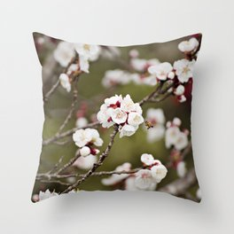 Drawn to the Scent of Spring Throw Pillow