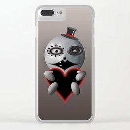 Black Heart Mime Clear iPhone Case