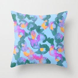 Beta Blue Throw Pillow