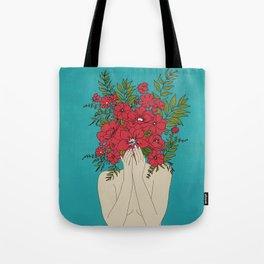 Blooming Red Tote Bag