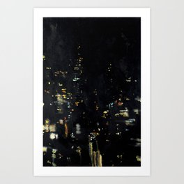 Barflies Lit Up Art Print