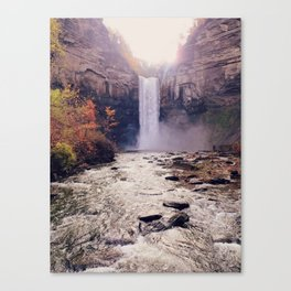 Tranquil Waterfall: Taughannock Falls, NY Canvas Print
