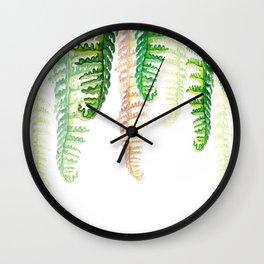 falling plants Wall Clock