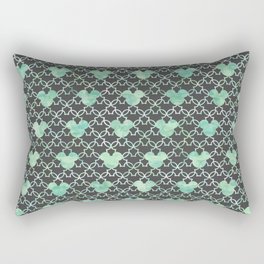 Mouse Ears Watercolor - Jasmine Mint Rectangular Pillow