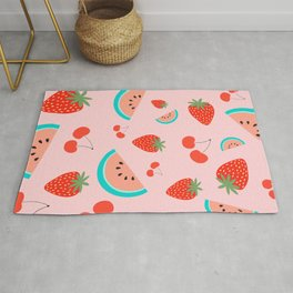 Fruit Salad (Pastel Pink) Rug