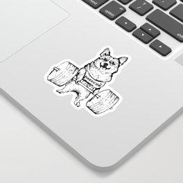 Corgi Lift Sticker