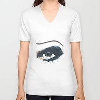 hedwig V-neck T-shirts featuring Hedwig Eye by byebyesally