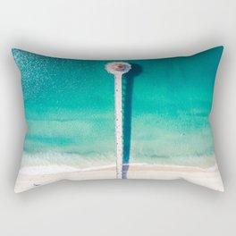 Aerial of Manhattan Beach pier Rectangular Pillow