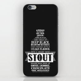 A beer is worth a thousand words - STOUT iPhone Skin