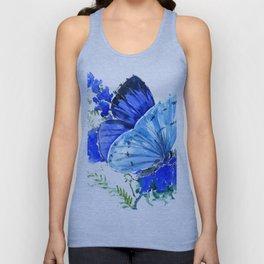 Blue Butterfly Unisex Tank Top