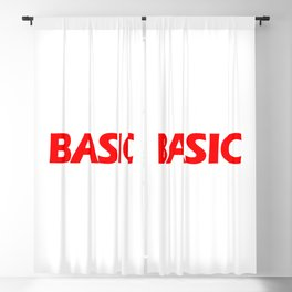 BASIC in Red Blackout Curtain