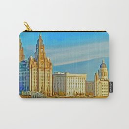 Liverpool 3 Graces (Digital Art) Carry-All Pouch