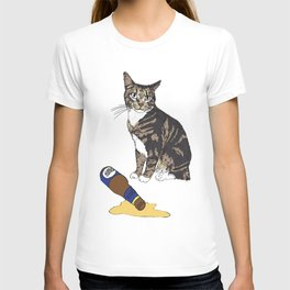 Cat Spilled Beer T-shirt