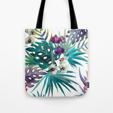 Tropical Floral Pattern 04 Tote Bag