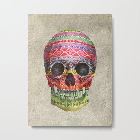 Navajo Skull  Metal Print