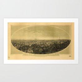 Los Angeles, California (1888) Art Print