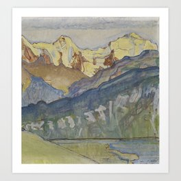 Eiger, Monch and Jungfrau from Beatenberg by Ferdinand Hodler, 1910 Art Print