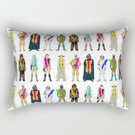 Naughty Lightsabers - Light Rectangular Pillow