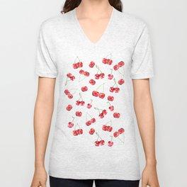 Cherry Pattern Unisex V-Neck