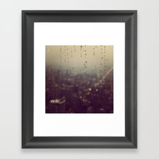 Urban Rainstorm Framed Art Print