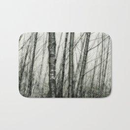 Alders i - Impressionistic Tree Trunks Bath Mat