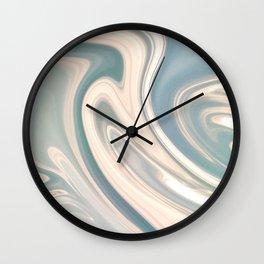 Turquoise Swirl Wall Clock