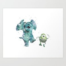 Mike and Sully Monsters Inc. Disneys Art Print