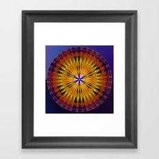 Abstract patterns mandala Framed Art Print