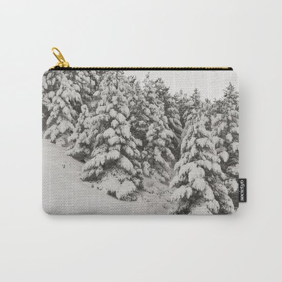 Snowy trees. Retro Carry-All Pouch