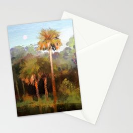 Moonrise over the Palms Stationery Cards