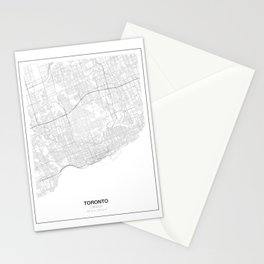 Toronto, Canada Minimalist Map Stationery Cards