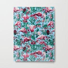 Spring Summer Floral Pattern Metal Print