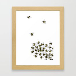 Swarm of Bees  Framed Art Print