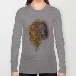 Lady and a skull Long Sleeve T-shirt