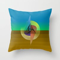 fifth element Throw Pillows featuring Element by Erik Decker